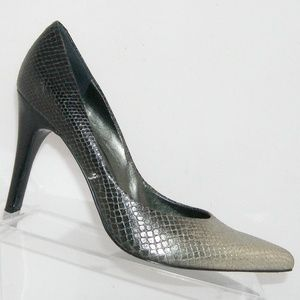 Nine West Gaffer leather ombre snake print heel 8M